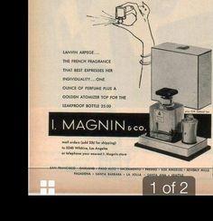 The ad for a neat Lanvin presentation for Arpege