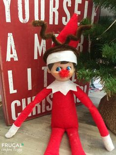 Crafty Elf Reindeer Disguise plus daily Elf on the Shelf Ideas on Frugal Coupon Living. #elf #elfontheshelf #elfontheshelffunny #elfie #elfdoll #elfonashelfideas #elfontheshelf #elf #elfideas