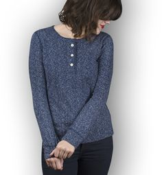 Tradlands | Long Sleeve Shirts for Women | The Avenues Henley Liberty | Featured Image