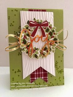 Well it has been a cold and wet day today for the first day of Spring! Stampin Up Christmas, Christmas 2014, All Things Christmas, Handmade Christmas, Christmas Crafts, Holiday 2014, Christmas Ideas, Xmas Cards, Holiday Cards