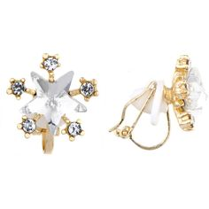 Rhinestone Star Clip-On Earrings ($25) ❤ liked on Polyvore featuring jewelry, earrings, yellow, clip earrings, clip back earrings, rhinestone earrings, earrings fine jewelry and star jewelry
