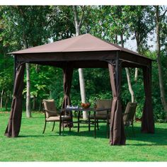 Outsunny x Garden Metal Gazebo Marquee Party Tent Canopy Shelter Pavilion 5060348505891 Hot Tub Gazebo, Gazebo Canopy, Patio Gazebo, Garden Gazebo, Canopy Outdoor, Backyard, Garden Canopy, Pergola, Grill Canopy