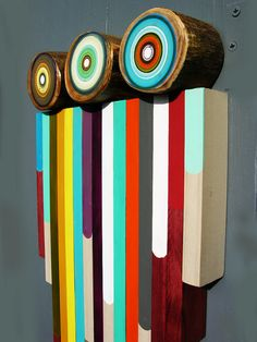 Colorful Reclaimed Wood  Art For A Valentines by focuslineart, $300.00