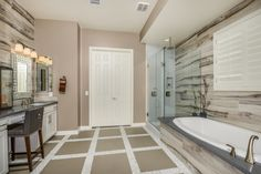 Now this is a beautiful #masterbathroom you'll adore!
