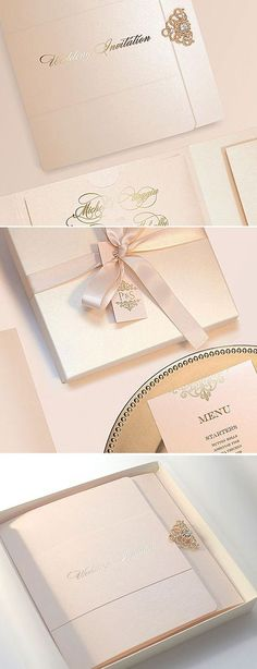 Meet trendy and elegant rose gold pocketfolds with free rsvp cards inside, most loved by our customers