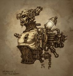 The link explains a film: Cowboys and Engines and talks about what steampunk is. This is a great example filled with a lot of history, which is great for establishing connections and true understanding of steampunk. Art Cyberpunk, Steampunk Illustration, Collections D'objets, Steampunk Weapons, Futuristic Art, Epic Art, Fantasy Inspiration, Dieselpunk, Creature Design