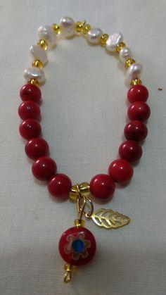Coral Jewelry, Gems Jewelry, Jewelry Bracelets, Jewelery, Handmade Beaded Jewelry, Beaded Jewelry Patterns, Handmade Bracelets, Crystal Bracelets, Crystal Jewelry