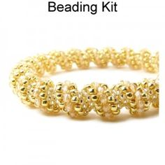 Cellini Spiral Beaded Bracelet in Gold Beading Kit