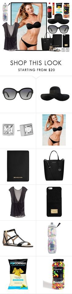 """VS Swimwear"" by jessicagrewal ❤ liked on Polyvore featuring Michael Kors, Eugenia Kim, Victoria's Secret, MICHAEL Michael Kors, women's clothing, women's fashion, women, female, woman and misses"