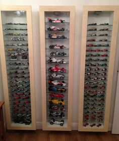 Formula 1 collection; World Champions in the cabinet to the right