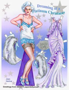 2007 Jean Harlow Platinum Christmas. Not for purchase.  By David Wolfe, Paperdollywood. Not for purchase.