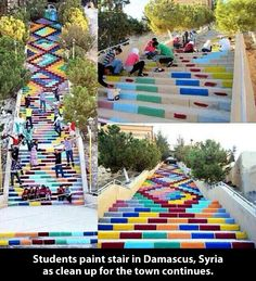 Urban art improvement…  Freaking awesome. I love these steps and these kids