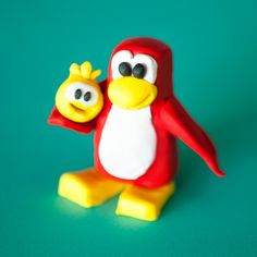 Club Penguin Polymer Clay Penguin | Spoonful