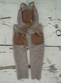 Image of Rustic Tan Pocket Romper Newborn Boy Clothes, Baby Kids Clothes, Baby Outfits Newborn, Baby Boy Outfits, Baby Pants, Girls Pants, Baby Suit, Baby Sewing Projects, Baby Costumes