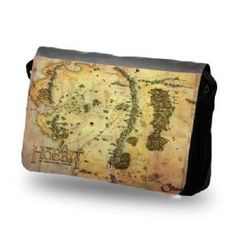 The Hobbit Middle Earth Map Messenger Bag - I need one of these