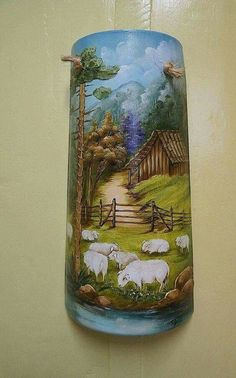 Stone Painting, Painting On Wood, Pintura Tole, Fan Blade Art, Painted Milk Cans, Stone Age Art, Art Pictures, Pictures To Paint, Art Rupestre