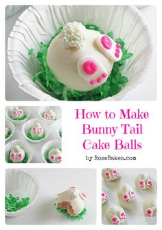 How to Make Bunny Tail Cake Balls!  Step by Step Picture tutorial!