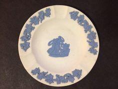 Estate Find - Pre Owned Wedgwood Jasperware Ashtray Dish - Reversed Blue & White Wedgwood, Vintage Ceramic, My Ebay, Porcelain, Dish, Blue And White, Pottery, Ceramics, Ornaments