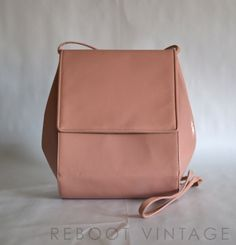 Vintage Amazing Pink Leather Handbag from Frenchy of California - 1980s. $59.00, via Etsy.