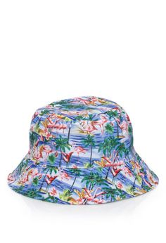 d410c3df653 Flamingo Print Bucket Hat Flamingo Print