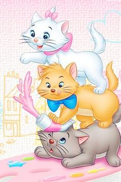43 Ideas Wallpaper Phone Disney The Aristocats Disney Babys, Baby Disney, Disney Tattoos, Disney Drawings, Cute Drawings, Marie Cat, Gata Marie, Walt Disney Characters, Disney Phone Wallpaper