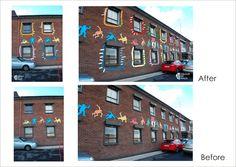 decorative murals - COLOUR MY WALLS Wall Colors, Murals, Exterior, Mansions, House Styles, Walls, Colour, Home Decor, Color