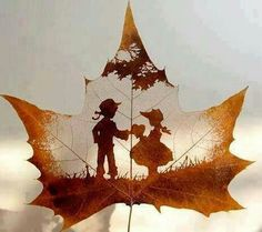 carving art from leaves - Lost At E Minor: For creative people Leaf Silhouette, Silhouette Pictures, Drawn Art, Amazing Art, Awesome, Leaf Art, Art Plastique, Art Forms, Artsy Fartsy