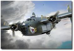 B-24D (Louis Zamperini) Super Man, April 1943 by Ron Cole