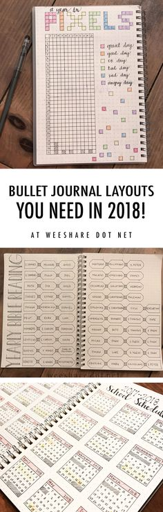 Here are a few bullet journal layouts that you NEED to explore!