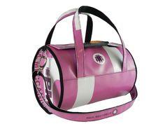 Borsa bauletto Paul Meccanico colorazioni rosa e bianco. Prodotto unico al mondo, numerato, esclusivo.