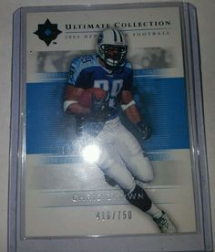 2004 Ultimate Collection Chris Brown #63 Tennessee Titans 416 /750 #UltimateCollection #TennesseeTitans