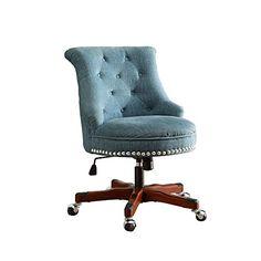 vintage office chair. Plain Vintage Linon Sinclair Office Chair Aqua  Dark Walnut Wood Base With Vintage