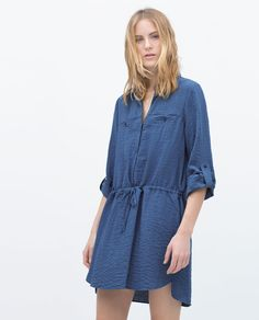 TUNIC WITH SHIRT-STYLE COLLAR-View all-Dresses-WOMAN | ZARA Japan