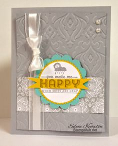 Stamp 4 fun with Selene Kempton: 1/28 You make me happy. Stampin' Up, See Ya Later Stamp Set ~ Sale-A-Bration is ON!! Woot!