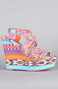 $90 The Busta Shoe in Neon Multi by Betsey Johnson on #karmaloop -- Use repcode SMARTCANUCKS at the checkout for 20% off your order -- http://www.lovekarmaloop.com