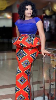Latest Ankara Dress Styles - Loud In Naija Latest African Fashion Dresses, African Dresses For Women, African Print Dresses, African Print Fashion, African Attire, African American Fashion, African Outfits, Trendy Ankara Styles, Ankara Dress Styles
