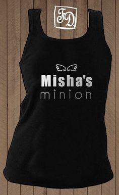 MISHA's minion tank top , Supernatural , Castiel t-shirt. $20.00, via Etsy. someone buy me this!!