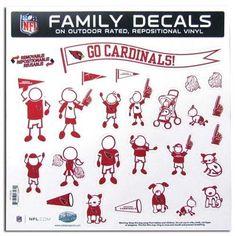 Arizona Cardinals Family Decal Auto Pack Large 11 x 11