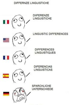 differenze linguistiche - linguistic differences