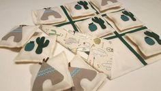 Handmade fabric tic tac toe with tepee and cactus print! Felt & fabric game . Toys for kids. Birthday gift. by DVSparkS on Etsy