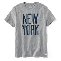 Old Navy New York Graphic Tee For Men ($15) ❤ liked on Polyvore featuring men's fashion, men's clothing, men's shirts, men's t-shirts, grey, mens patterned shirts, mens patterned t shirts, mens leopard print t shirt, mens short sleeve t shirts and mens jersey shirts