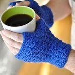 Scale fingerless gloves