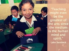Check out more inspirational quotes here! #education #Guatemala #Steinbeck