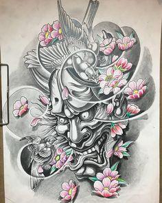 tattoo japones Diy Craft Table fold down craft table diy Oni Tattoo, Samurai Mask Tattoo, Hanya Tattoo, Japan Tattoo Design, Geisha Tattoo Design, Japanese Mask Tattoo, Japanese Tattoo Designs, Oni Maske, Tattoo Cover