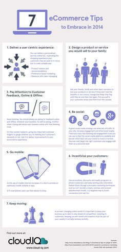 7 Ecommerce Tips to Embrace in 2014   #infographic #Ecommerce #marketing