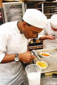 A Pastry & Baking Arts Student at work