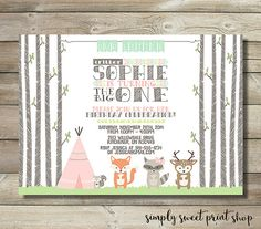 Woodland Girl Birthday Party Invitation by SimplySweetPrintShop