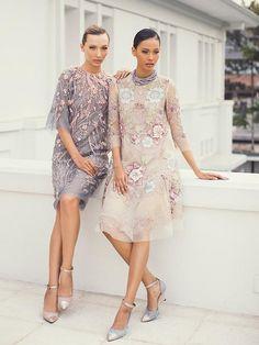 Koleksi Eksklusif Gaun-Gaun Mewah dan Elegan dari Biyan - Fashion Fimela.com Tulle Dress, Lace Dress, Dress Up, Lovely Dresses, Simple Dresses, Model Dress Kebaya, Dress Brokat, Evening Dresses, Party Dress