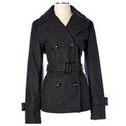 Classic Wool Blend Belted Peacoat