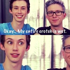 Tyler Okley & Troye Sivan <3 We all ship this so hard <3 #youtube #gay #love #boys You can BUY Troyler Merchandise by clicking their cute faces ^^